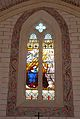 Veyrines-de-Vergt église vitrail choeur et peinture.JPG