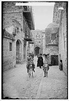 Via Dolorosa, beginning at St. Stephen's Gate. Fourth Station of the Cross LOC matpc.00023.jpg