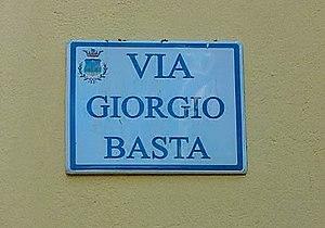 Giorgio Basta - Image: Via Giorgio Basta (Brindisi Montagna)