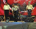 Vice Admiral Satish Soni inaugurating the Navy Ball by rolling the Navy Ball.jpg