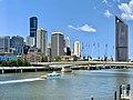 Victoria Bridge, Brisbane , Riverside Expressway, Queen's Wharf, Brisbane under construction in Feb 2020.jpg
