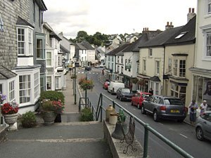 Modbury - Image: View down Church Street, Modbury, South Hams, Devon