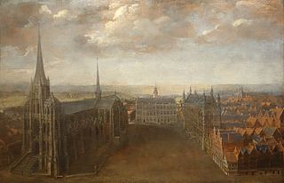 View of the Great Market Square in Leuven