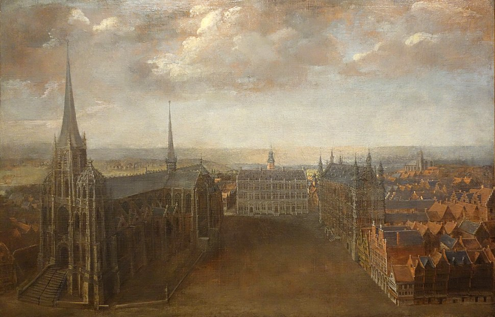 View of the Great Market in Leuven, by Wolfgang de Smet, 1650-1700 - Museum M - Leuven, Belgium - DSC05617