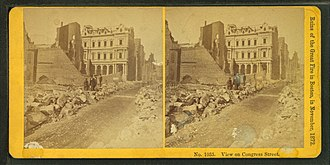 Congress Street (Boston) - Image: View on Congress Street, by Kilburn Brothers