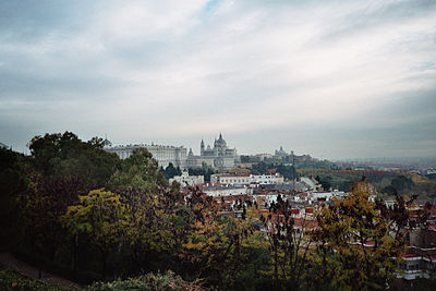 View on Palacio Real, Almudena Cathedral, Madrid 2.jpg