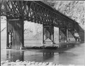 View shows pier skirting stripped during high water 1935 - NARA - 293970.tif