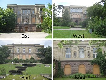 Die vier Fassaden der Villa Berg