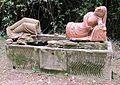 Villa roncioni, san giuliano, parco, statua in terracotta.JPG