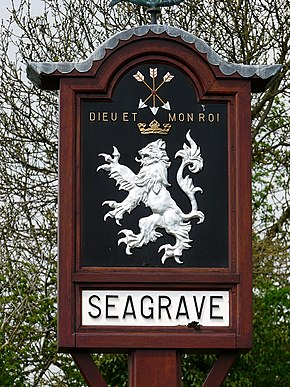 Village sign, Seagrave, Leicestershire. - geograph.org.uk - 829256.jpg