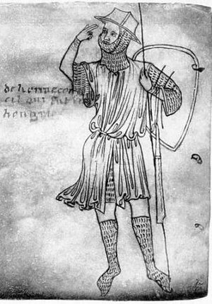 Chausses - Knight wearing chausses, from an illustration by Villard de Honnecourt (13th century)