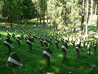 Antakalnis Cemetery - Graves of Polish soldiers