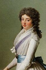 Portrait de Marie de Broutin, baronne de Chalvet Souville