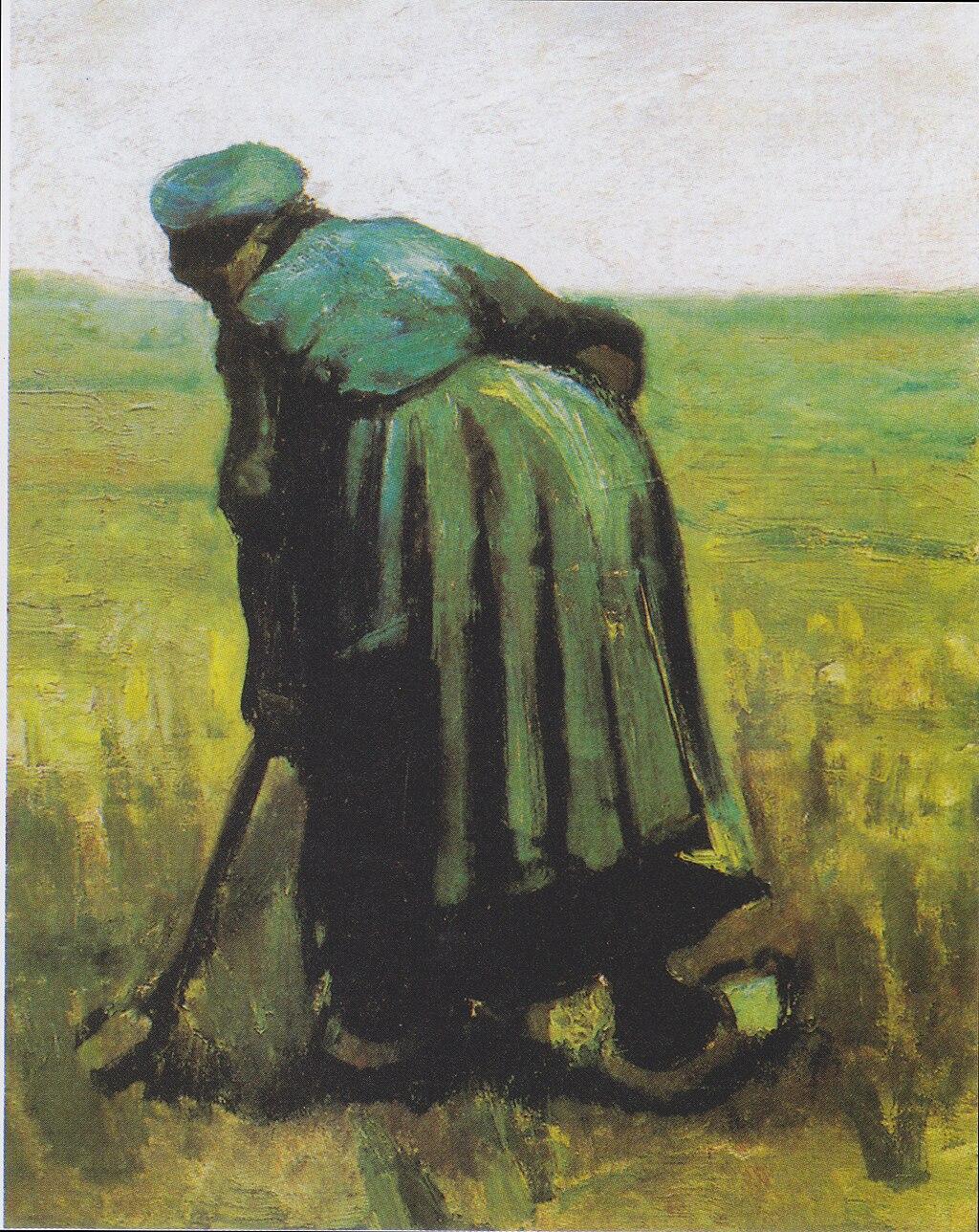 ビンセント・ヴァン・ゴッホ, A woman with a spade, seen from behind, c. 1885. Photo from wikipedia