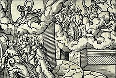 Deification of Julius Caesar as represented in a 16th-century engraving.