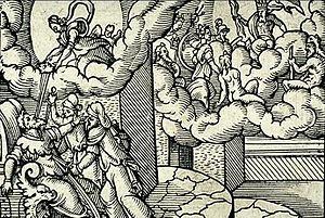 English: Deification of Julius Caesar. Engravi...