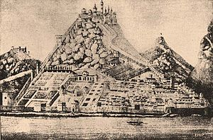 Visegrád - The castle at the time of King Matthias' reign