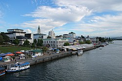 View of Valdivia from Pedro de Valdivia Bridge