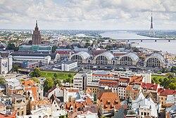 Vistas desde la iglesia de San Pedro, Riga, Letonia, 2012-08-07, DD 09.JPG