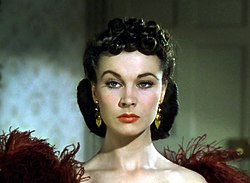 Cropped screenshot of Vivien Leigh from the trailer for the film Gone with the Wind