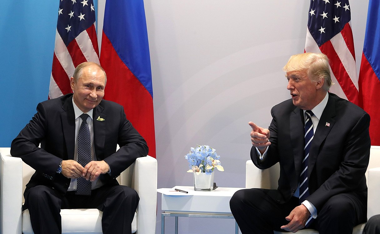 Vladimir Putin and Donald Trump at the 2017 G-20 Hamburg Summit (6).jpg