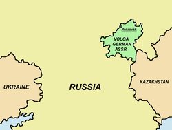 Location of Volga German Republic