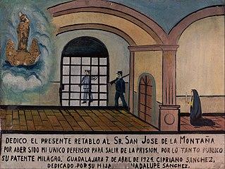 Votive ofering dedicated to Lord Saint Joseph