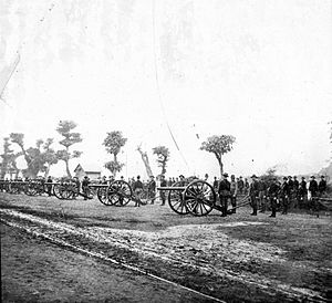 6th Air Defense Artillery Regiment - 3.2-inch guns of the 6th Artillery in the Spanish–American War.