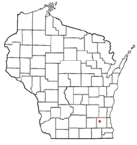 Location of Delafield, Wisconsin