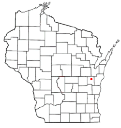 Location of Hilbert, Wisconsin
