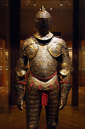 Étienne Delaune - Parade Armour of Henry II of France, c 1555
