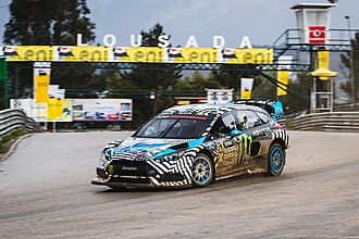 Ken Block - Block at the 2016 World RX of Portugal in his Ford Focus RS RX