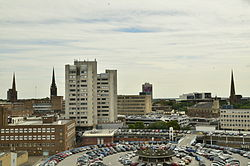 Skyline of Coventry city centre