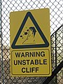 Warning - Unstable Cliff - geograph.org.uk - 600641.jpg