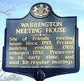 Warrington Meeting House State Historic Marker.JPG