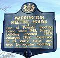 Warrington Meeting House State Historic Marker.JPG
