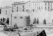 Warsaw Uprising - Getto at Muranowska Street by Karpinski