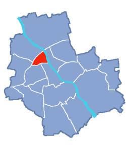 Location of Żoliborz within Warsaw