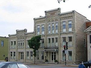 Cedarburg, Wisconsin - Washington Avenue Historic District in downtown Cedarburg