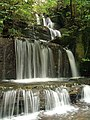 Waterfall near Coed y brain - geograph.org.uk - 108374.jpg