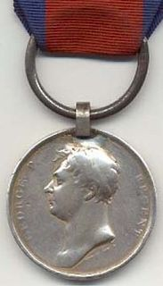 Waterloo Medal medal awarded to British soldiers who fought in the Waterloo campaign in 1815