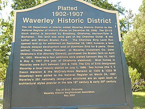 Waverley Historic District (Enid, Oklahoma) - Image: Waverly Historic District