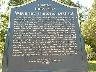 Waverley Historic District (Enid, Oklahoma) - Image: Waverly Historic District