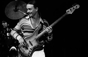 Jazz bass - Jaco Pastorius, performing with Weather Report in Convocation Hall, Toronto, Canada November 27, 1977