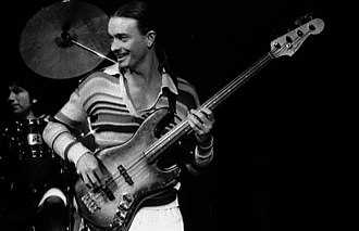 Weather Report - Jaco Pastorius, with bass guitar in Toronto, November 1977