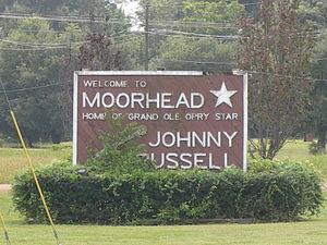 Moorhead, Mississippi - Entrance sign