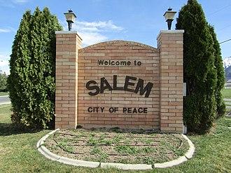 Salem, Utah - Welcome to Salem sign, March 2017