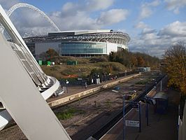 Wembley Stadium stn high eastbound.JPG