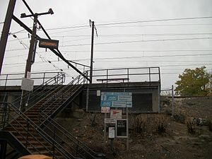 West Baltimore station - Staircase to the northbound platform