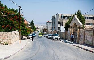 Jenin - A street in Jenin, 2011